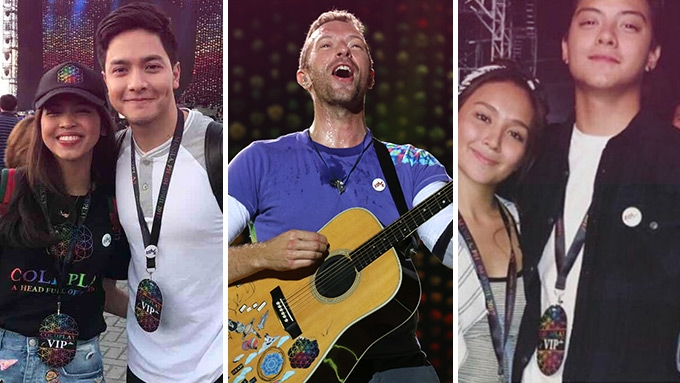 Aldub, Kathniel, AshMatt at Coldplay's Manila concert