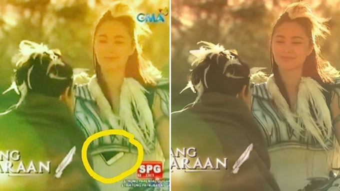 Did Heart have smartphone blooper in Mulawin vs Ravena?