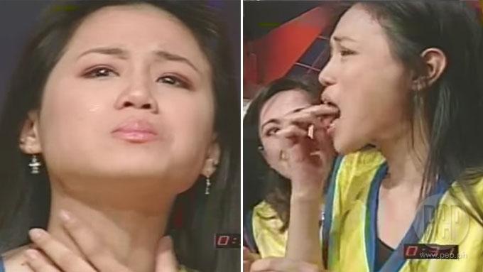 Toni Gonzaga cries while eating live prawns in Eat Bulaga