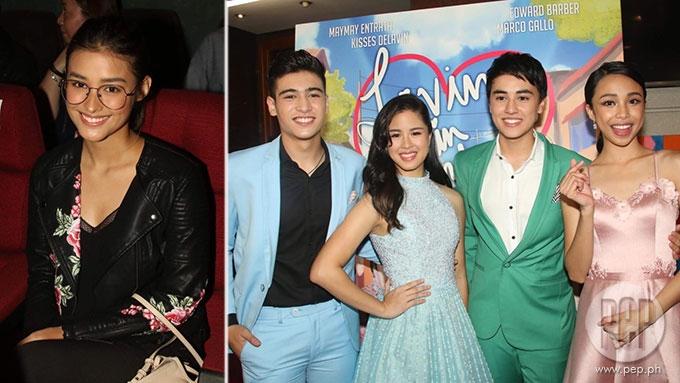 Liza Soberano, Kapuso Jinri spotted at Star Cinema premiere
