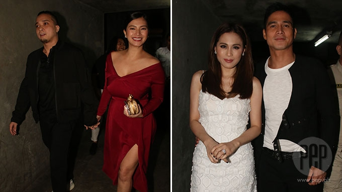 Angel and Neil spotted holding hands at Toni-Piolo premiere