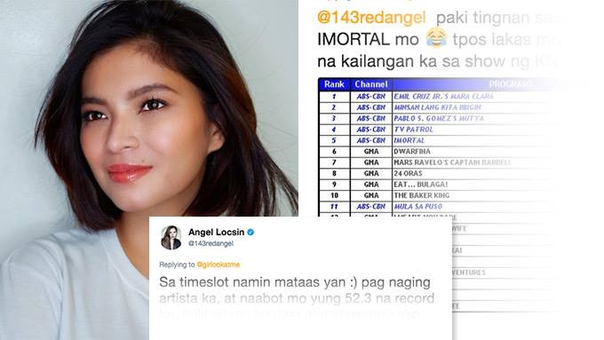 Angel Locsin reminds basher about her highest-rating episode