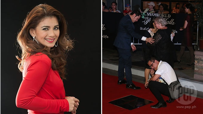 Isabel Granada's mom, husband shed tears at Walk of Fame