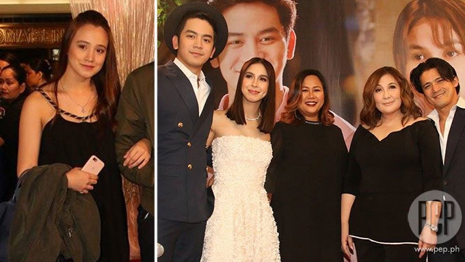 Former GMA star seen at Sharon-Robin-JoshLia premiere