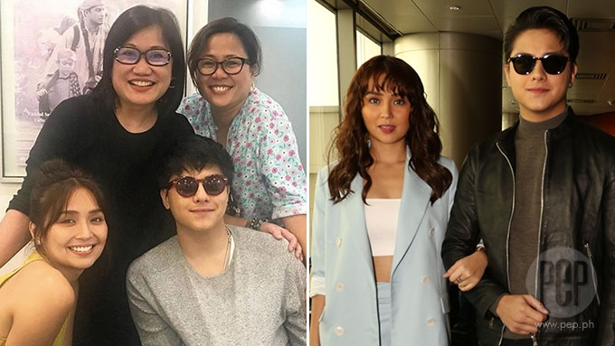 KathNiel love team attends story pitching for new movie