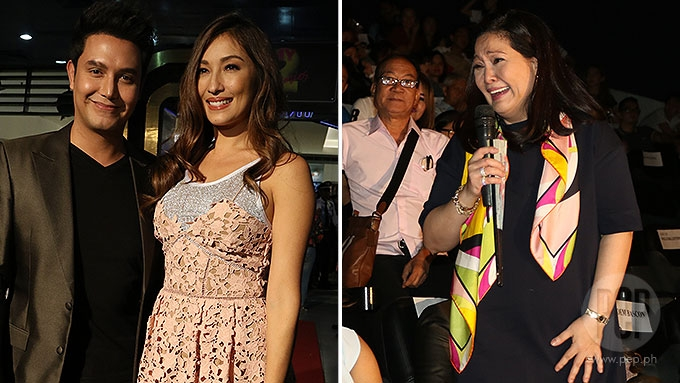 Maricel Soriano trips while promoting movie at premiere