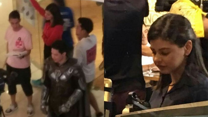 Alden spotted at <em>Victor Magtanggol</em> taping with GMA actress
