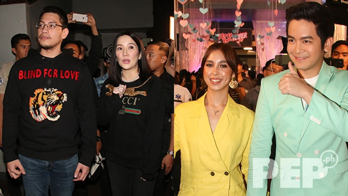 Kris Aquino escorted by Atty. Gideon Pena at premiere night