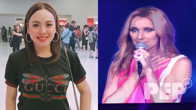 Claudine, Vice Ganda spotted at Celine Dion Manila concert