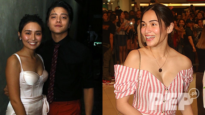 GMA-7 actress attends KathNiel movie premiere