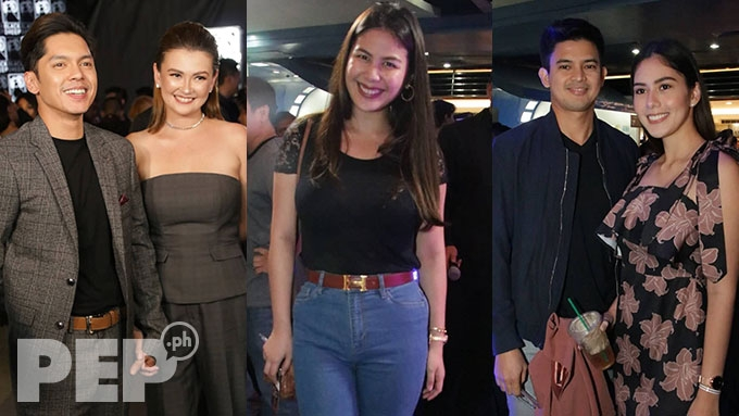 Carlo-Angelica hold hands; GMA stars attend premiere