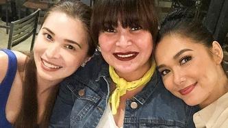 Kapuso Sunshine Cruz attends Wildflower reunion with Maja Salvador, co-stars