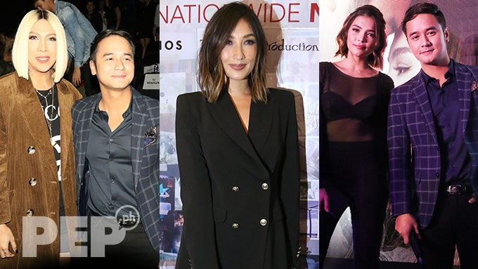 ABS-CBN, GMA-7 stars spotted at JM-Rhian movie premiere