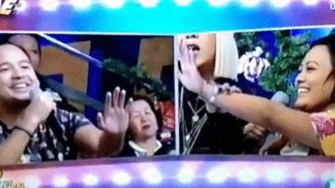 Vice Ganda instructs contestant to mimic AlDub split screen
