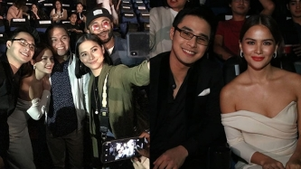 Maja tells McCoy de Leon, Elisse Joson at premiere night:
