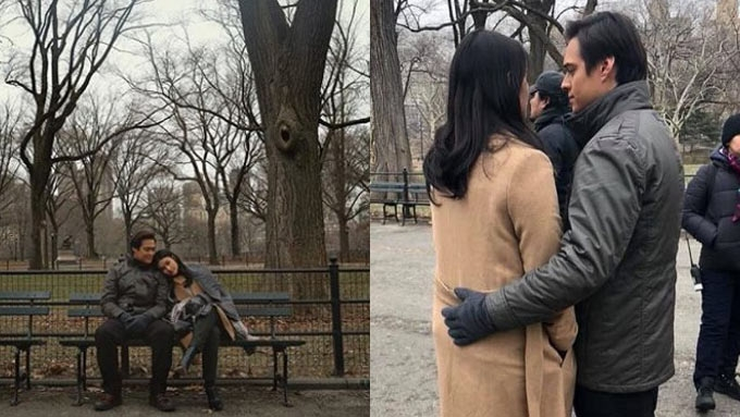 Liza, Enrique have sweet moments while shooting in New York