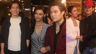 JoshLia, Carlo Aquino support Liza Soberano, Enrique Gil at Alone/Together premiere night