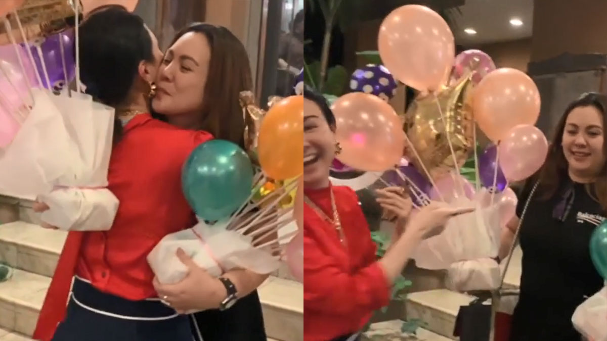 Claudine Barretto surprises sister Gretchen on her 49th birthday