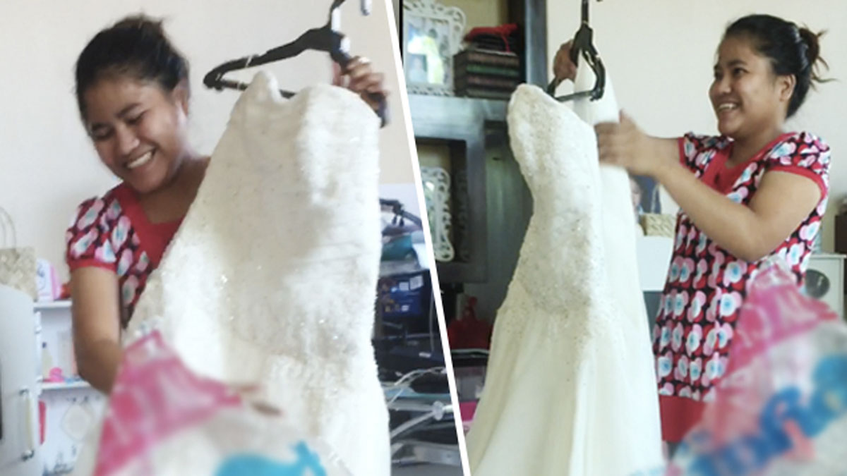 Yaya gets designer wedding gown, thanks to a community of moms