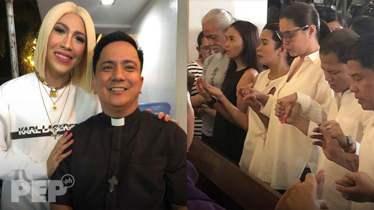 Vice Ganda, Pokwang, K, Pooh attend necro mass for Chokoleit