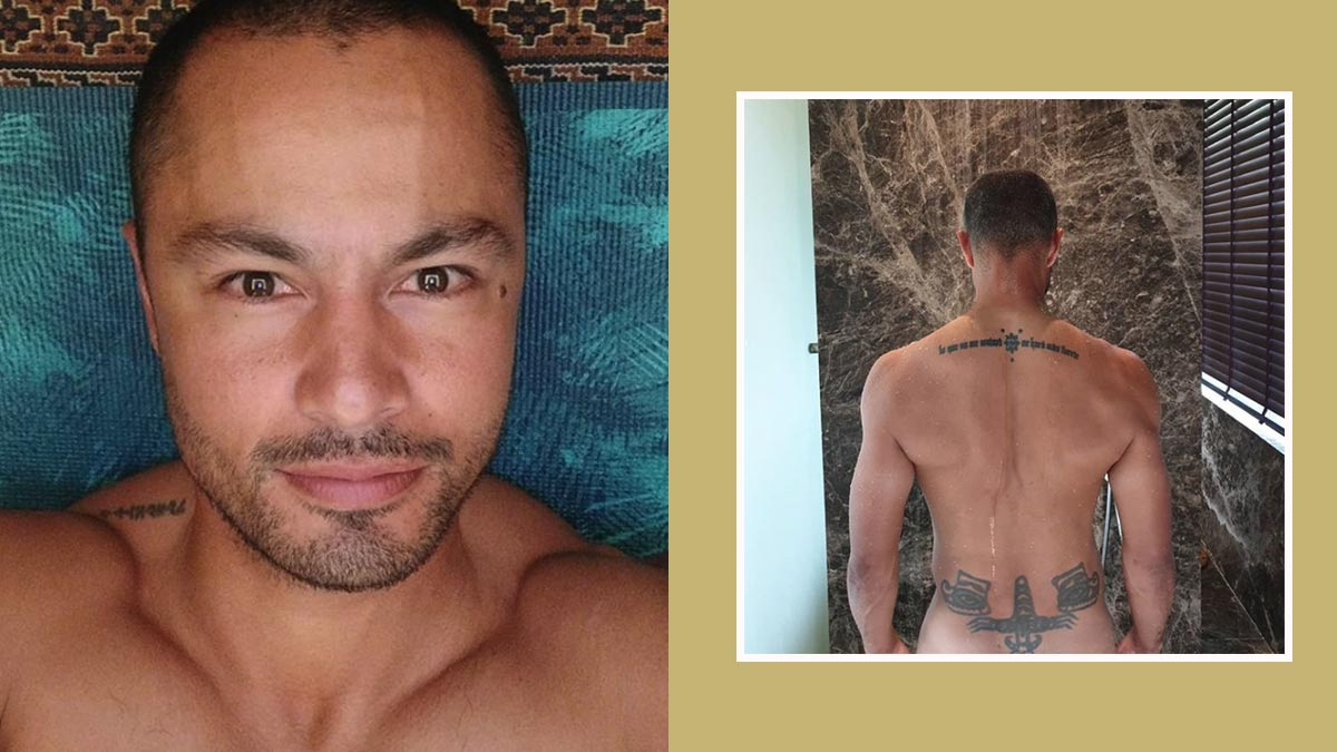 Derek Ramsay steamy and almost naked on Instagram