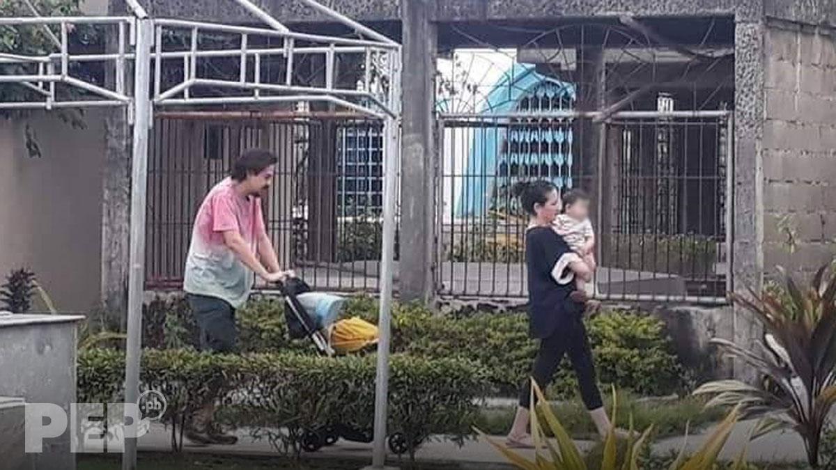 Ellen Adarna, John Lloyd Cruz spotted with their son Elias Modesto at Cebu cemetery