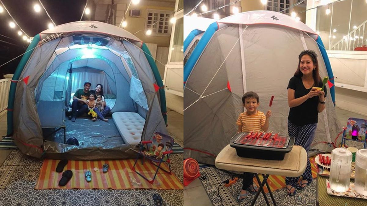 Jolina Magdangal makes at-home camping fun for her family