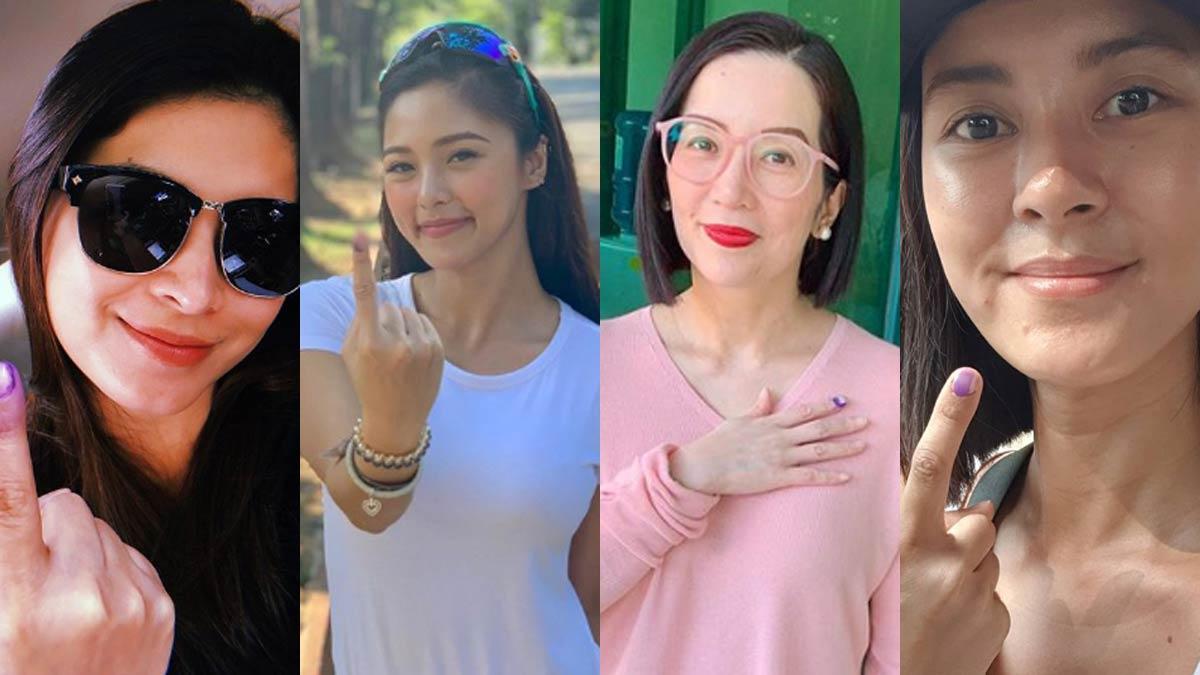 Angel Locsin, Kim Chiu, Kris Aquino, Bianca Gonzalez cast votes in 2019 elections