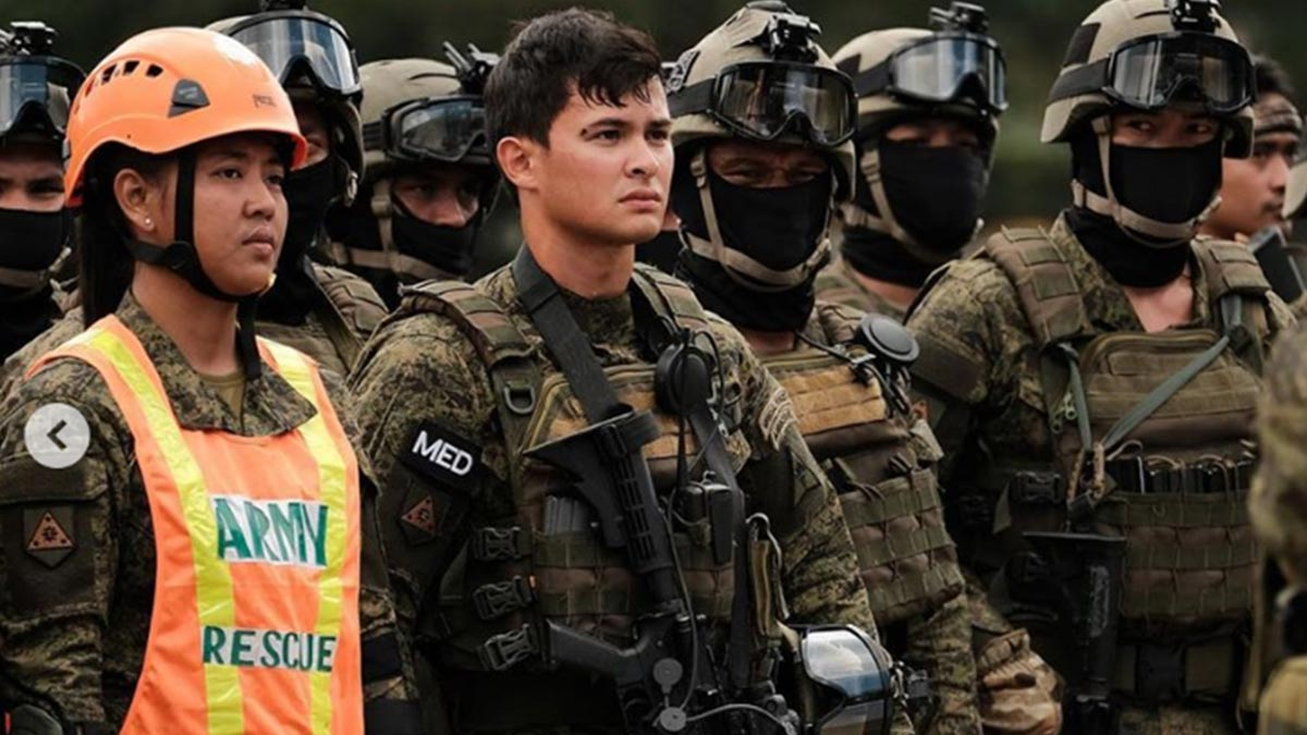 Matteo Guidicelli joins army roadshow of Philippine Military Academy