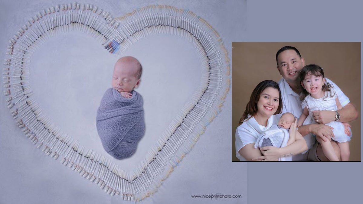Nadine Samonte uses syringes as props for her babies' portraits
