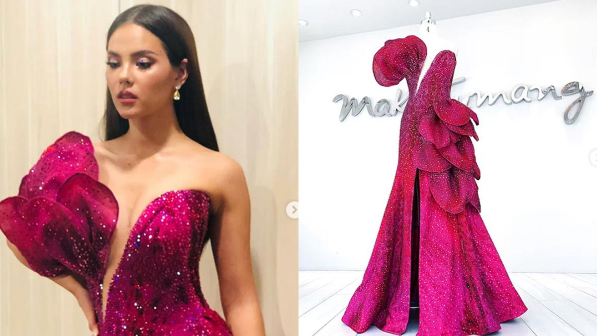 Catriona Gray wears Waling-Waling-inspired gown at Bb. Pilipinas 2019