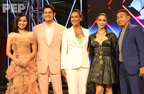 StarStruck hosts and judges: Kyline Alcantara, Dingdong Dantes, Cherie Gil, Heart Evangelista, Jose Manalo