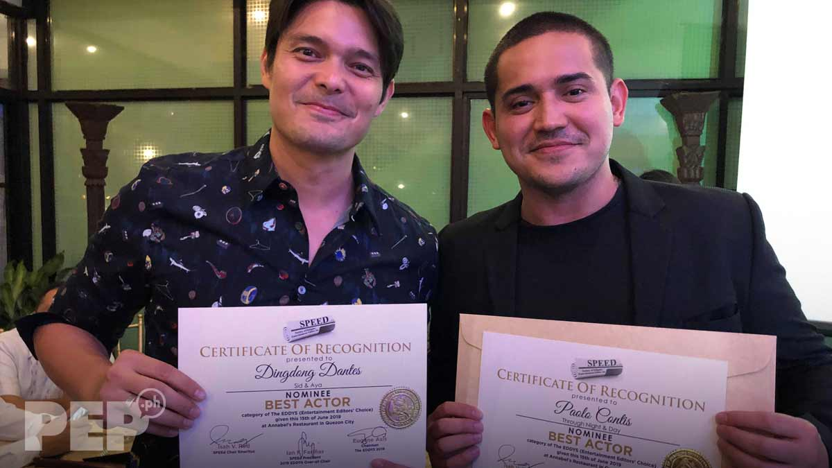 Dingdong Dantes, Paolo Contis nominated both for best actor award at Eddys