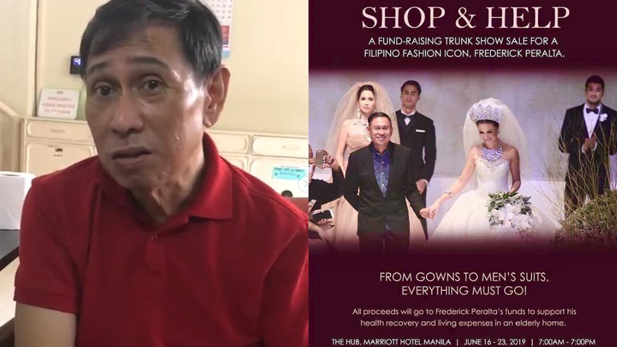 Frederick Peralta gowns and suits on sale at Marriott to raise funds for his medical expenses