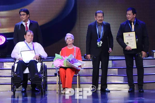 Eddie Garcia at the PMPC Star Awards 2019.
