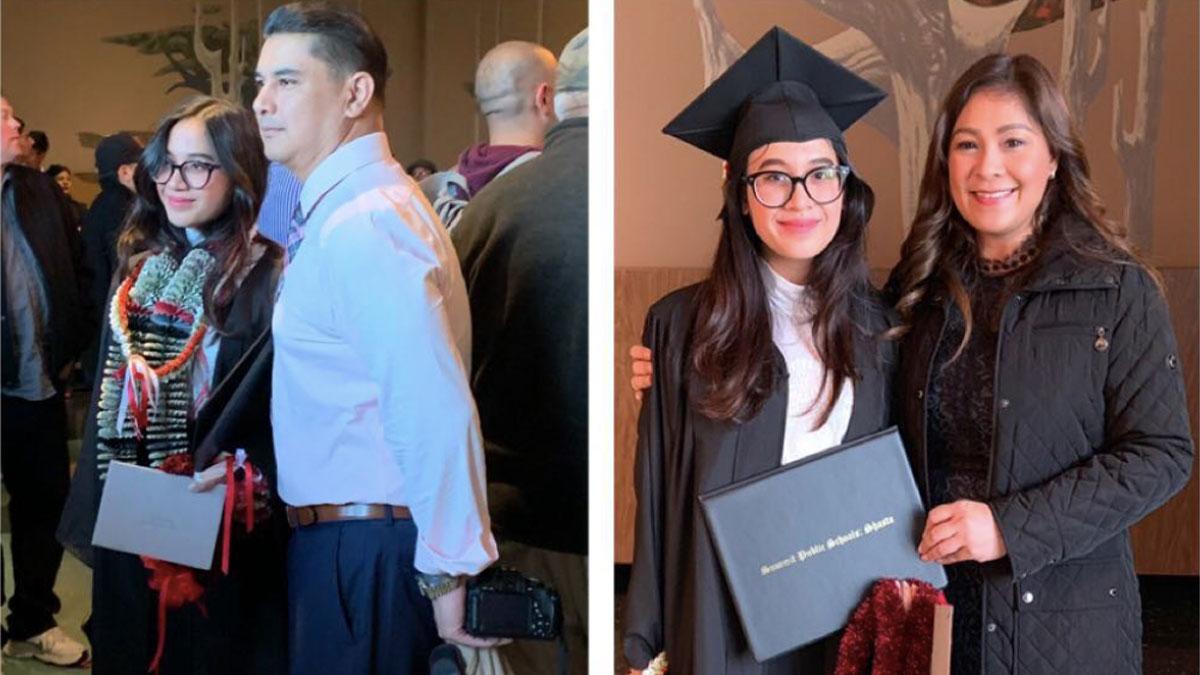 Sheryl Cruz, ex-husband Norman Bustos attend daughter's graduation