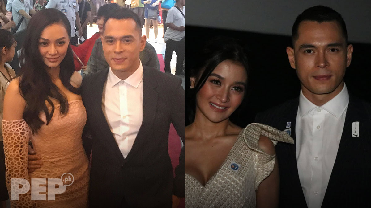 Jake Cuenca joined by girlfriend Kylie Verzosa at KontrAdiksyon premiere