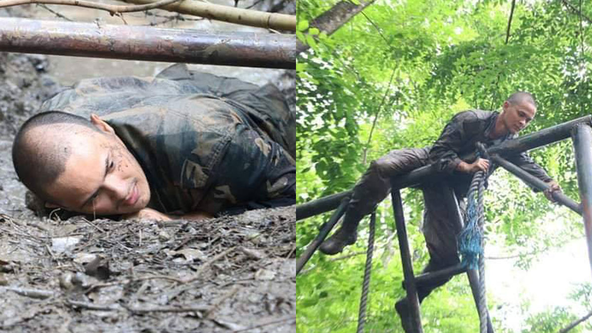 Matteo Guidicelli undergoes rigorous physical training at ranger camp