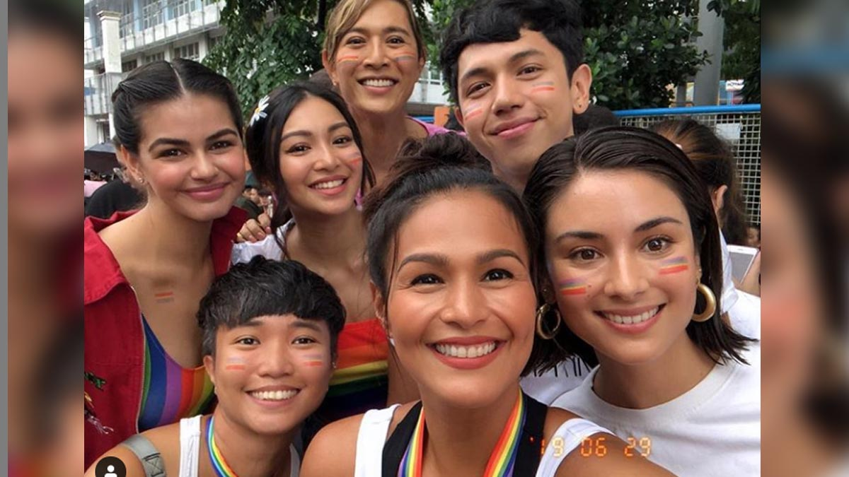 ABS-CBN, GMA-7 stars join forces for Pride March 2019