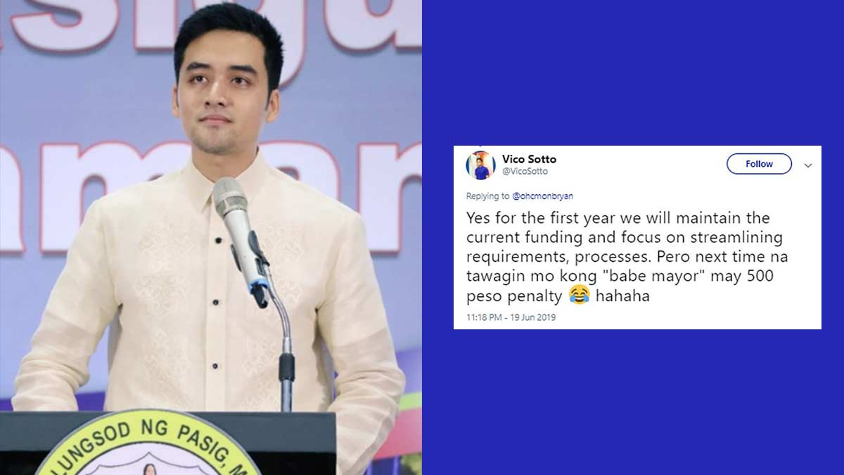 Vico Sotto has the funniest tweets after winning as Pasig mayor
