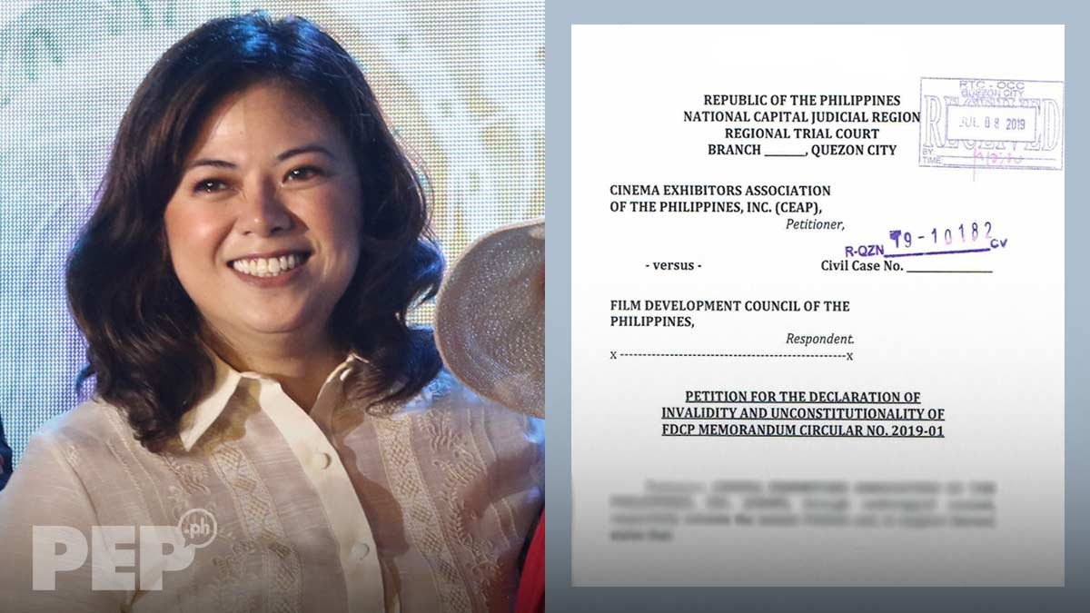"Liza Diño posts FDCP statement on its allegedly ""invalid, unconstitutional"" film-screening rules"