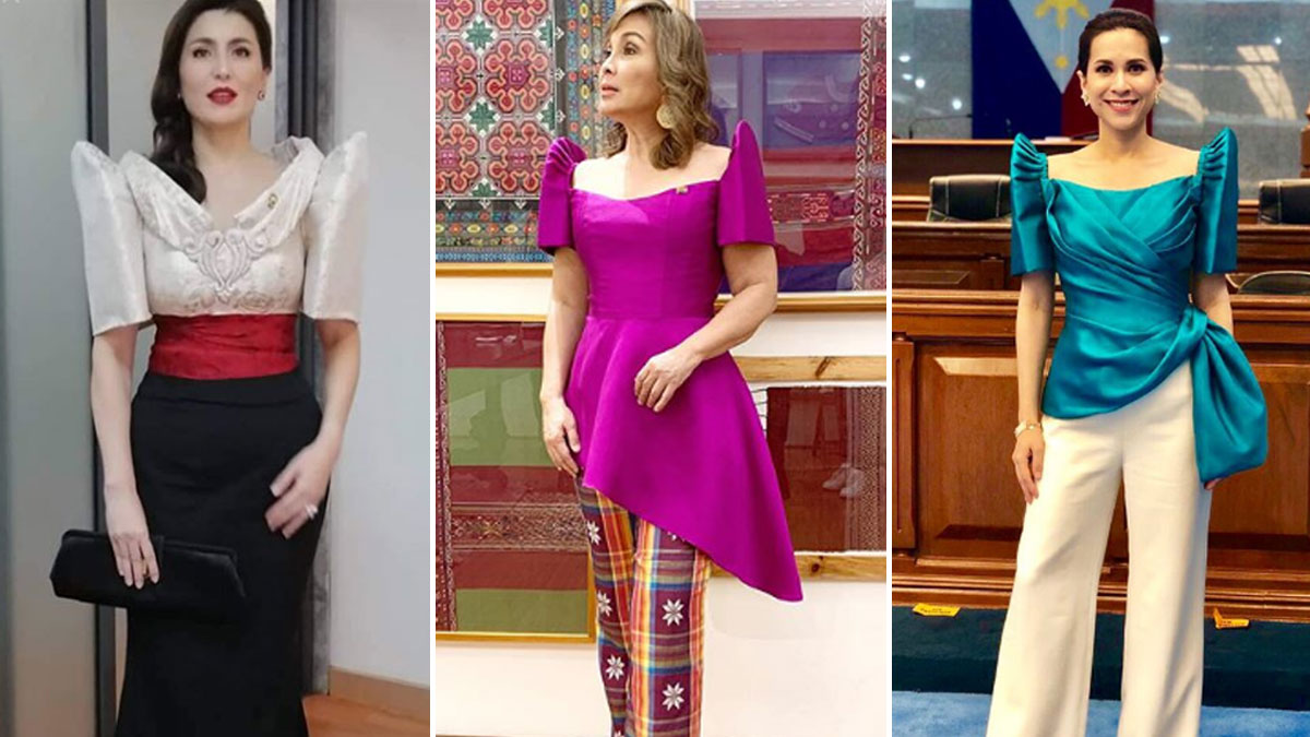 The stylish Filipiniana outfits spotted at SONA 2019