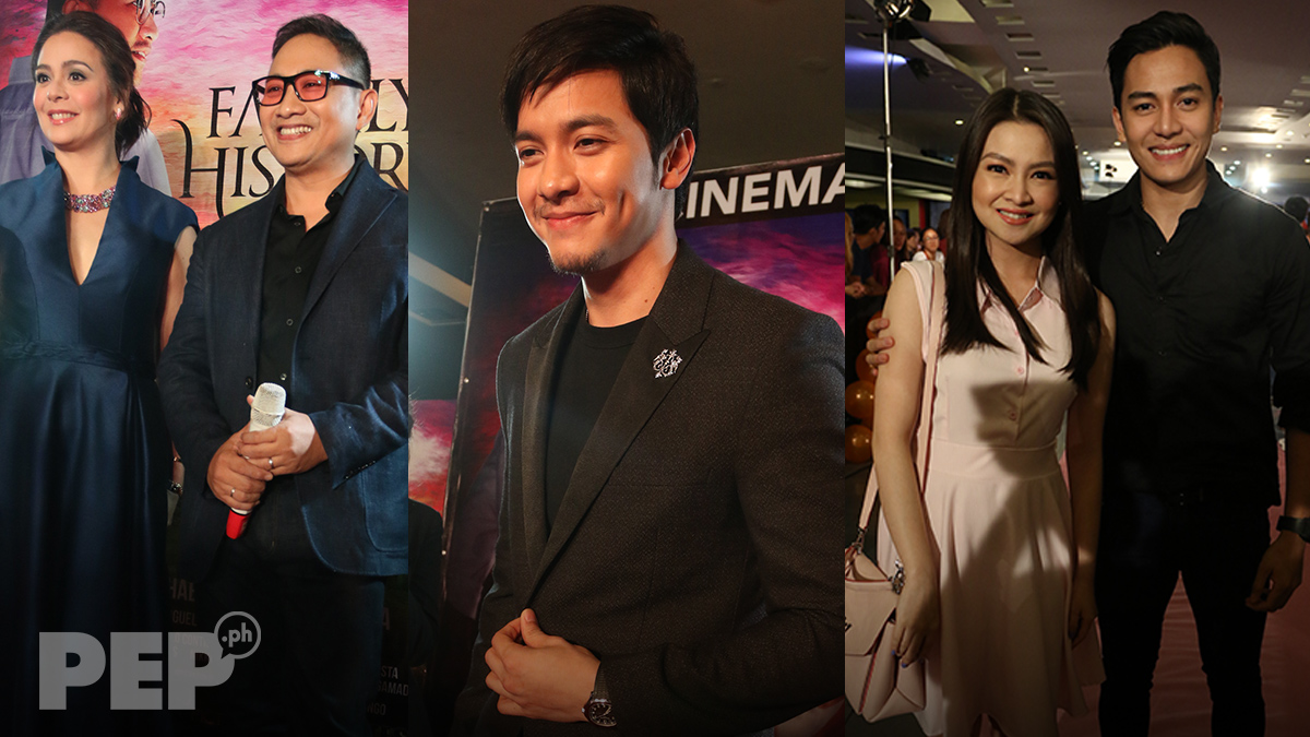 Alden Richards, GMA-turned-TV5 executive attend Family History premiere