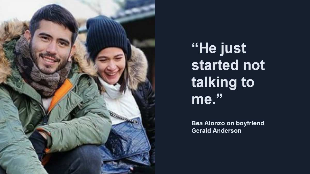 Bea Alonzo says no formal breakup with Gerald Anderson