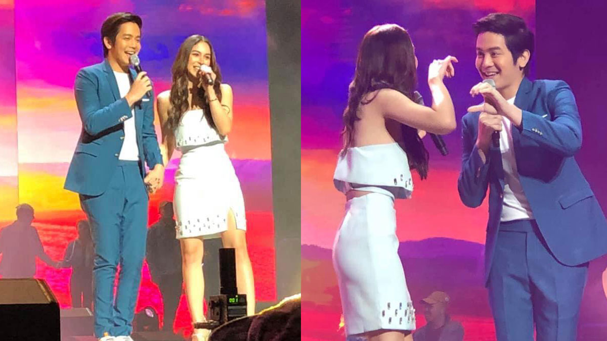 Joshua Garcia at Julia Barretto, sweet-sweetan sa stage; Joshua, solo flight sa after-party