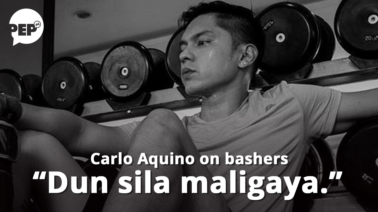 """Carlo Aquino sa bashers: """"Dun naman sila maligaya, e."""""""