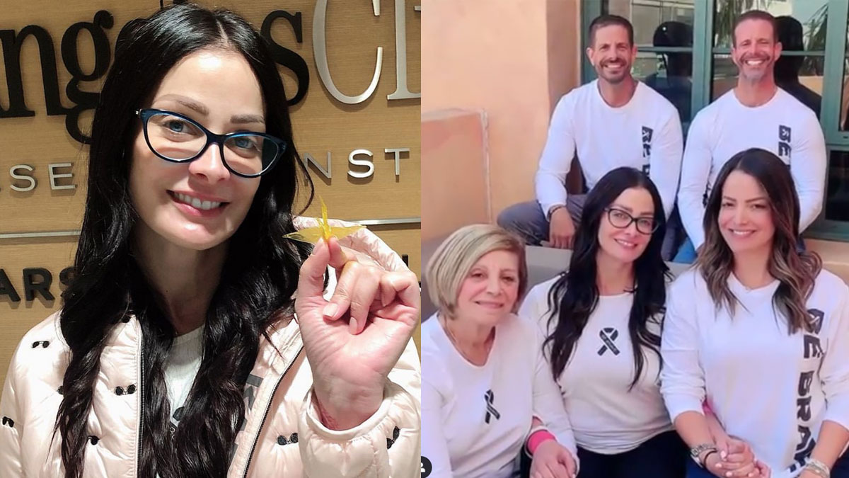 Miss Universe 1993 Dayanara Torres chemotherapy session becomes a family affair