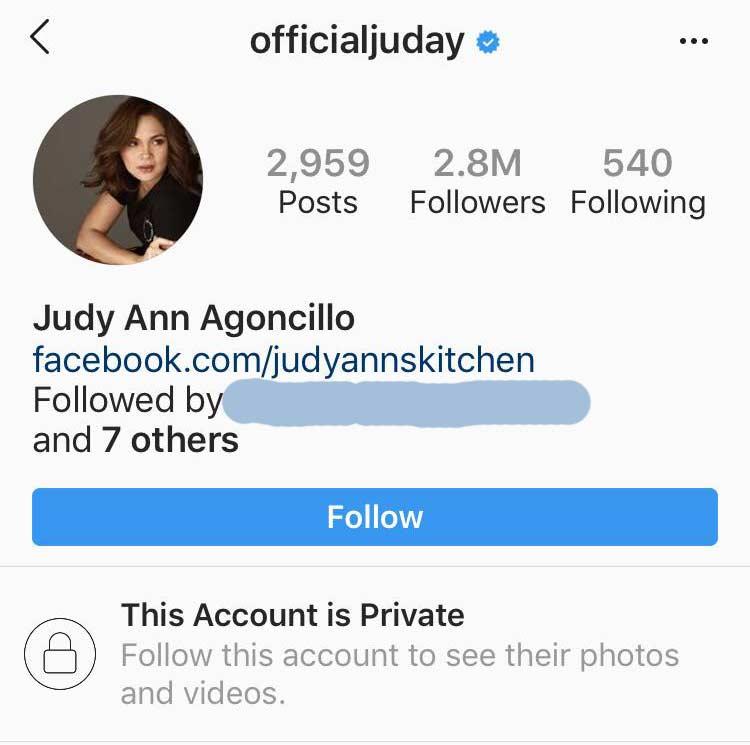 Judy Ann Santos Instagram