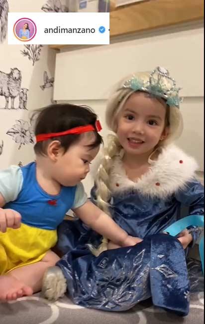 Andi Manzano daughters Olivia, Ameilia Halloween 2019