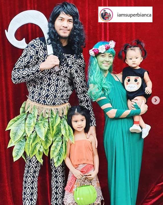 Bianca Gonzalez , JC Intal family Halloween 2019